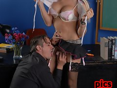 Naughty TS schoolgirl seducing her teacher